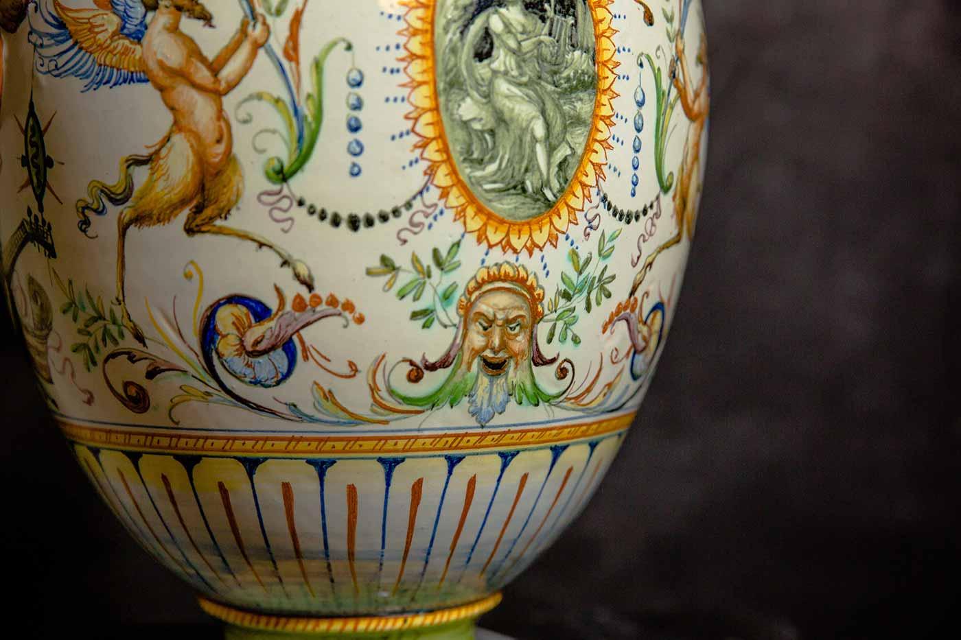Maioliche Vaso biansato