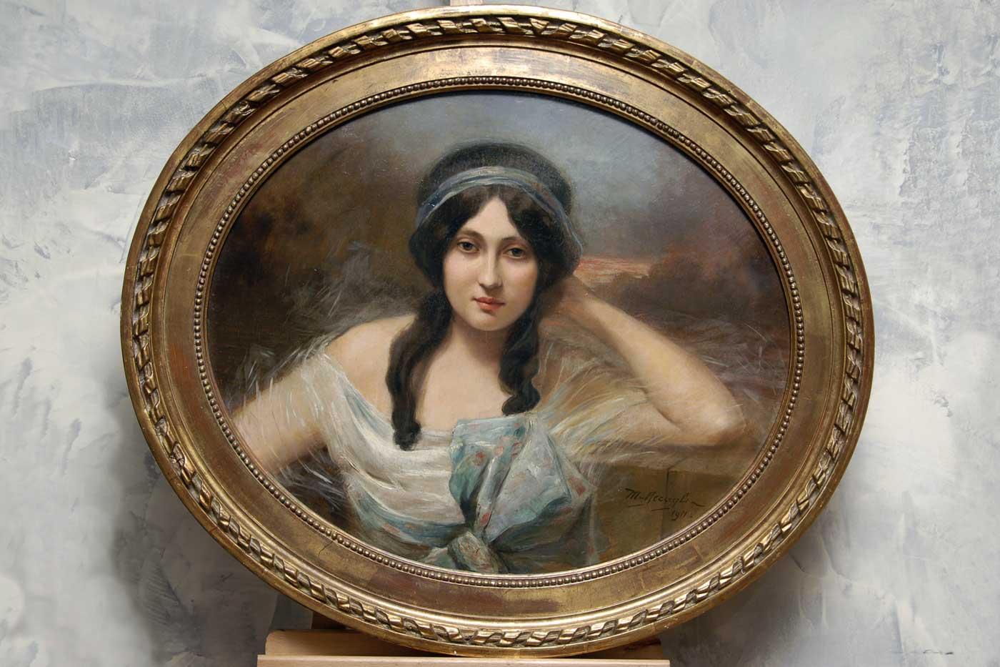 Pittura e arredi Ritratto femminile